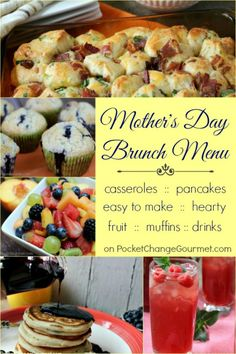 Why not start Mom's day off right with a special breakfast in bed, a hearty brunch, or even a muffin and juice. These Mother's Day Brunch Recipes are easy and budget friendly! Be sure to save them by pinning to your Recipe Board!