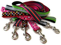 Dog Leash To Match Your Collar - up to 6 Feet Long. $25.99, via Etsy.