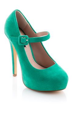 Turquoise Mary Janes