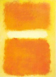 Mark Rothko, pintor leton, que vivió en los Estados Unidos. Asociado al expresionismo abstracto. A partir de 1947 su estilo cambió y pinto grandes cuadros con capas finas de color. La mayoría de sus composiciones tomaron la forma de dos rectángulos confrontados y con bordes desdibujados por veladuras. De grandes formatos que envuelven al espectador, y hacerle partícipe de una experiencia mística, Al final de su vida sus cuadros son oscuros, con abundancia de marrones, violetas y negros.