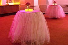 Tables wearing tutus