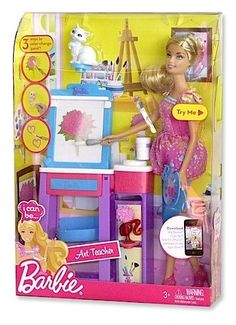 i can be barbie  | pictures of Barbie I Can Be Art Teacher
