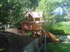 Custom Playsets Even For Sloping Yards By Kids Korner