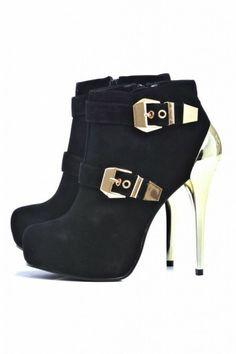 Metal Buckle Shoe Boot