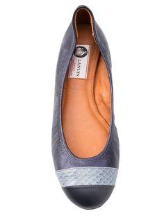 LANVIN Cap Toe Ballerinas. #lanvin #shoes #flats