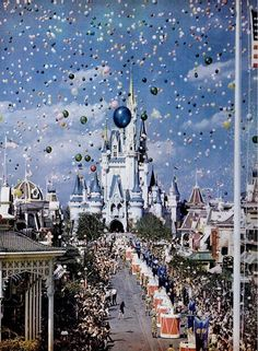 opening day at walt disney world, florida. life magazine, december 1971    Love it