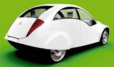 I think they've done a nice job here, keeping the quirky charm, while freshening the lines. Citroën 2 CV Concept....K