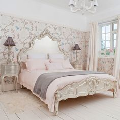 The Luxurious Sylvia Silver Bed by the   French Bedroom Company - what is prettier?