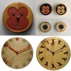 木工作品集 040-12 Woodcraft works portfolio 040-12 #オーダーメイド木の時計 #干支 #申年 #ordermade #WoodenClock #ChineseZodiac #Year of the Monkey http://ift.tt/1Nq0R26