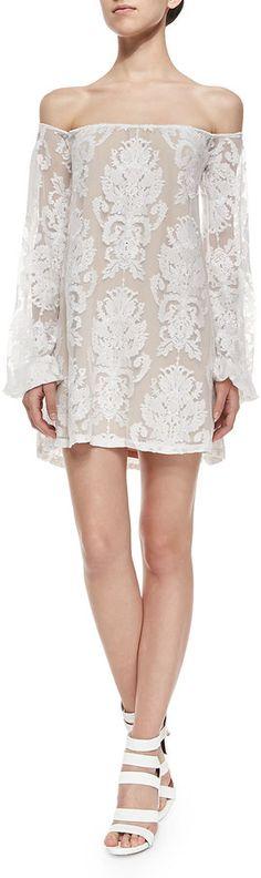 For Love & Lemons San Marcos Off-the-Shoulder Lace Dress on shopstyle.com