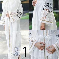 The white abaya   @posh.abaya