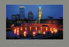Waterplace Park Basin Poster. Photo by Barnaby Evans. #waterfire #providence #posters