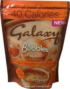 Galaxy Bubbles 40 Calorie Hot Chocolate Orange flavour