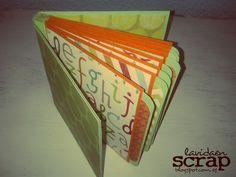 Mini álbum de sobres con encuadernación de acordeón (abierto)
