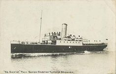 The Steamship St. Seiriol on which the bulk of the 9th Battalion, Loyal North Lancashire Regiment - 27 officers and  889 men with an armourer attached, left England for France. They left Aldershot on two trains from Farnborough at 8.20 and 8.50 and had all arrived at Folkestone by 11.50 p.m. They crossed the Channel and arrived in Boulogne at 2.30 a.m. and went straight to a rest camp for the night.  #WW1Centenary #WW1 Thanks to Roger Morlidge