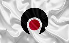 Download wallpapers Flag of Kagoshima Prefecture, Japan, 4k, silk flag, Kagoshima, symbols of Japanese prefectures, Kagoshima emblem