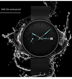 Ultra Thin Casual Style Watch Mens Sport Watches, Watches For Men, Waterproof Sports Watch, Vintage Watches, Quartz Watch, Fashion Watches, Chronograph, Mens Fashion, Luxury