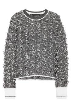 Alexander Wang|Bouclé alpaca-blend sweater|NET-A-PORTER.COM