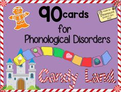 A Super Fun way to target the most common phonological processing disorders while playing Candy Land! *This unit is meant to be used with a CANDY LAND Game Board.   Board is not included.What Should I Use This For?I've created this set of 90 Phonology Cards (with pictures) as a fun way to work on 5 of the most commonly seen phonological processing disorders in young children.