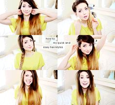 Zoella quick and easy hair (love her color, too)  http://youtu.be/my3Bfd6qYrs