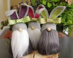 Bunny Gnomes, Easter, Nursery, Nordic Gnome, Gifts for Her, Scandinavian Gnomes, Gnome Gifts, Hostess Gifts, Nordic Gnomes, Easter Bunny