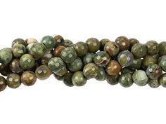 Dakota Stones Rhyolite 6mm Faceted Round Bead Strand