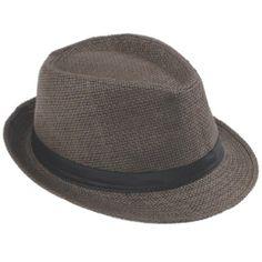 V-SOL Sombrero de paja de lino marrón para verano. Gorro para playa Unisex #hombre #mujer #sombrero