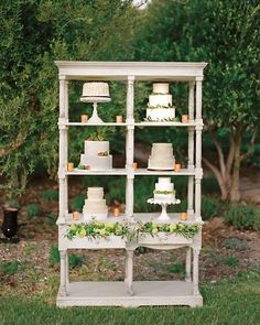 cake display | @Martha Stewart Weddings