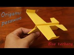 Origami pesawat luncur terbang jauh mudah - YouTube Origami Kite, Origami Airplane, Make A Paper Airplane, Airplane Crafts, Kids Origami, Paper Crafts Origami, Origami Animals, Paper Plane, Recycled Paper Crafts