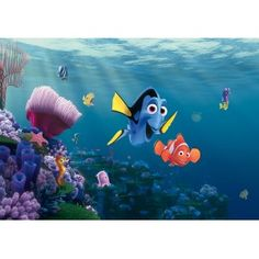 Finding Nemo - Dory and Nemo x Wallpaper Disney Pixar, Poster Mural, Buy Wallpaper Online, Finding Nemo, Arte Pop, Decoration, Kids Room, Room Decor, Minnie Mouse