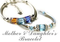 """The bracelets are part of My new """"Just for you Collection"""" it can be just a Mother's Bracelets with Birthstones or it can be a Mother Daughter's bracelets. They are all sterling silver and Swarovski Crystals. You can find them in my ETSY store at.... https://www.etsy.com/listing/281243978/mothers-bracelet-birthstone-bracelet?ref=shop_home_active_3"""