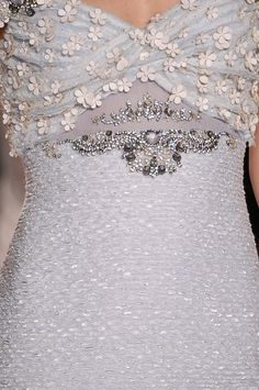 Badgley Mischka at New York Fashion Week Spring 2013 - Details Runway Photos Couture Details, Fashion Details, Love Fashion, Runway Fashion, Fashion Design, Designer Gowns, Fashion Images, Badgley Mischka, Beautiful Gowns