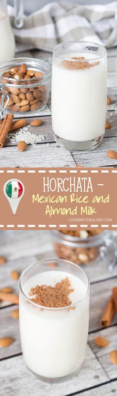 This authentic Horchata recipe has everything you need: rice, almonds, cinnamon…