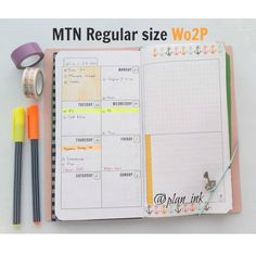 PIN TO REMEMBER: Week on 2 pages for the regular Midori Size Traveler's notebook. Easy layout and beautiful colors.