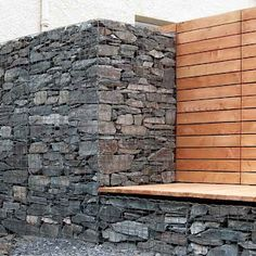 ...and it will have either Gabion columns as fence posts at the entry or full on walls at the site....