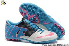 Best Gift Blue White Black Nike FC247 Bomba Finale II Soccer Boots On Sale