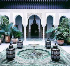 Snapshots in this tiled den of decadence make for first-rate Insta-fodder… 🗝  La Mamounia, Marrakech, Morocco Moroccan Design, Moroccan Decor, Moroccan Style, Moroccan Bedroom, Moroccan Lanterns, Islamic Architecture, Art And Architecture, Bungalows, Mamounia Marrakech