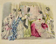 January, 1874 - Opera dresses - Les Modes Parisiennes, Peterson's Magazine