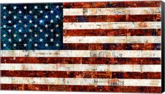 American Flag canvas painting