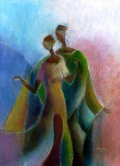 Romance - Couple by African American artist Nkonkwo Nnamdi