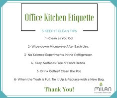 24 Best Office kitchen etiquette images in 2019 | Office