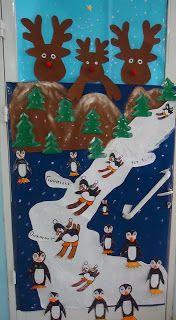Νηπιαγωγός από τα πέντε...: ΧΡΙΣΤΟΥΓΕΝΝΙΑΤΙΚΗ ΔΙΑΚΟΣΜΗΣΗ ΓΙΑ ΤΗΝ ΠΟΡΤΑ ΤΗΣ ΤΑΞΗΣ ΣΑΣ-ΙΔΕΕΣ ΑΠΟ ΤΟ ΔΙΑΔΙΚΤΥΟ Christmas Door, Christmas 2014, Christmas Crafts, Creation Art, Classroom Door, Winter Theme, School Projects, Holidays And Events, Creations