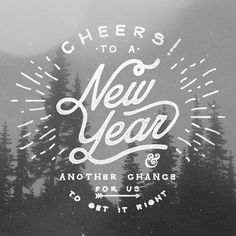 Cheers to the New Year on Behance, Noel Shiveley in Logo