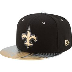 New+Orleans+Saints+59FIFTY+2017+NFL+Draft+On+Stage+Fitted+Black+Hat+by+New+Era