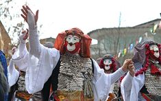 Masks, drums, fires, bells and animal hides take center stage in the diverse fertility-promoting rites of the Greek carnival season.
