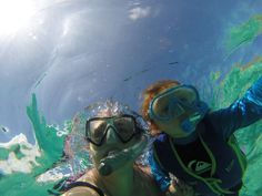 Teaching kids to snorkel!