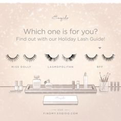 7 steps to find the perfect lashes - http://findmy.esqido.com by @esqido #lashes #lashguide #holiday