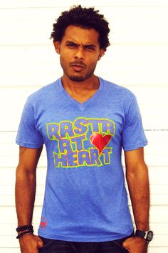 Rasta At Heart Cooyah t-shirt. 100% COTTON. FOR EVERYONE WHO IS A RASTA, OR RASTA AT HEART, WITH RED FOIL HEART. 1 LOVE. $24 at cyevolution.com  #Fashion #menswear #Reggae #rasta