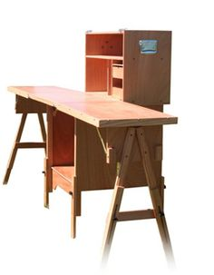 Portable camp kitchen.