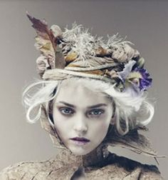 ❀ Flower Maiden Fantasy ❀ beautiful art  fashion photography of women and flowers - white washed